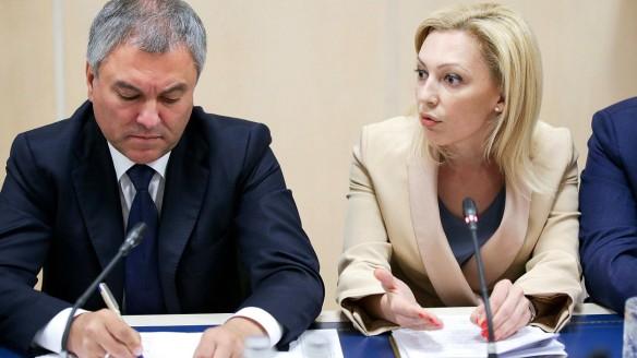 Вячеслав Володин и Ольга Тимофеева. Фото: duma.gov.ru