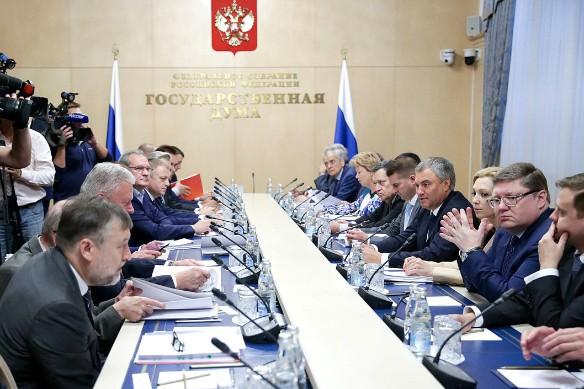 Заседание рабочей группы по совершенствованию пенсионной системы. Фото: duma.gov.ru