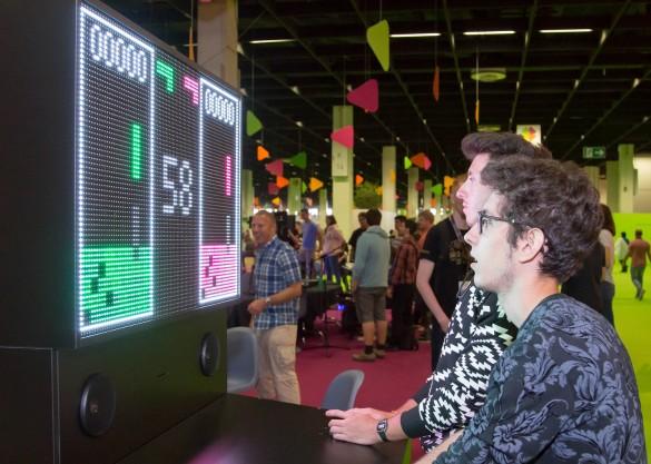 """""""Тетрис"""" на большом экране. Фото: flickr.com"""