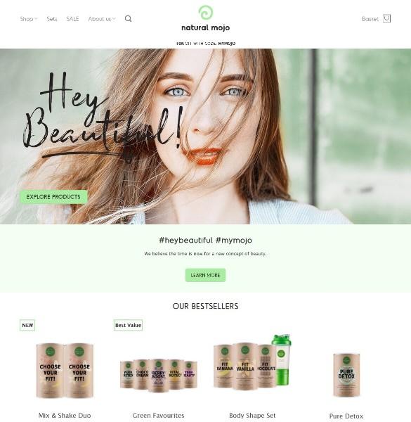 Скриншот naturalmojo.co.uk