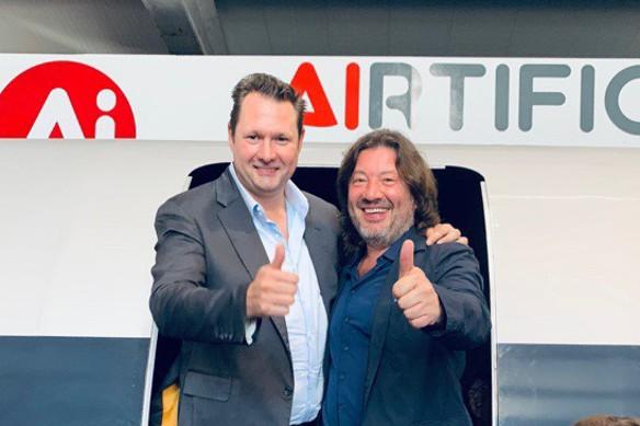 Александр Шульгин и Dirk Alborn глава Hyperloop HTT Фото: Пресс-служба