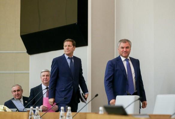 Александр Жуков и Вячеслав Володин. Фото: vk.com/duma