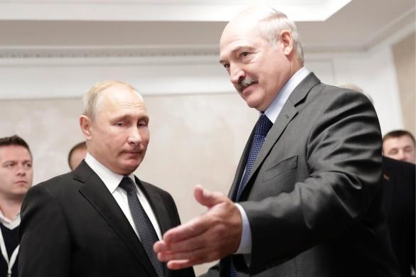 Александр Лукашенко и Владимир Путин. Фото: ТАСС