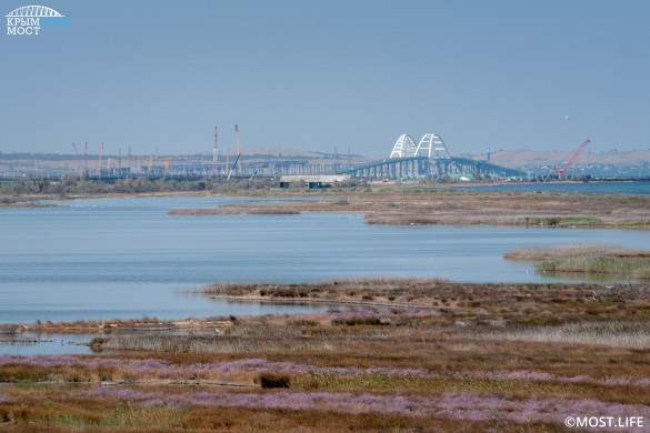 На Западе не утихает истерика по поводу Крымского моста. Фото: most.life