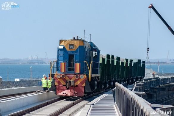 В следующем году откроется железнодорожная часть Крымского моста. Фото: most.life