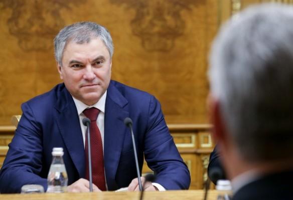 Вячеслав Володин. Фото: twitter.com/dumagovru