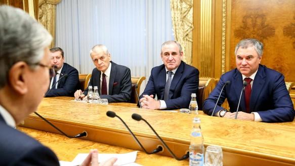 Сергей Неверов и Вячеслав Володин. Фото: duma.gov.ru