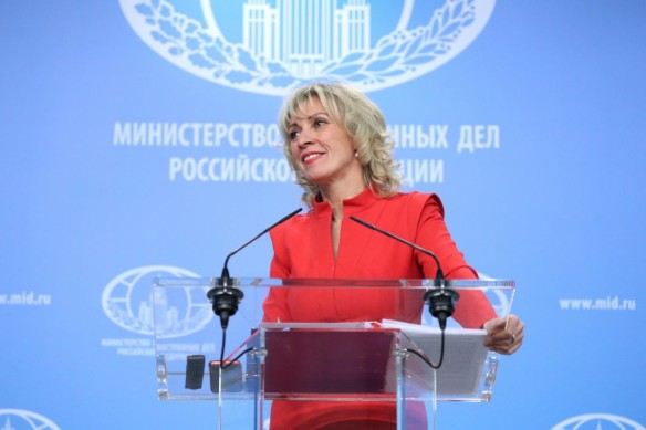 Мария Захарова. Фото: www.globallookpress.com