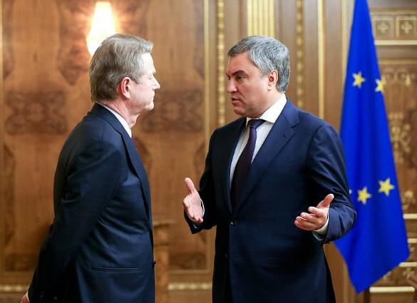 Вячеслав Володин и Роландас Паксас. Фото: duma.gov.ru/