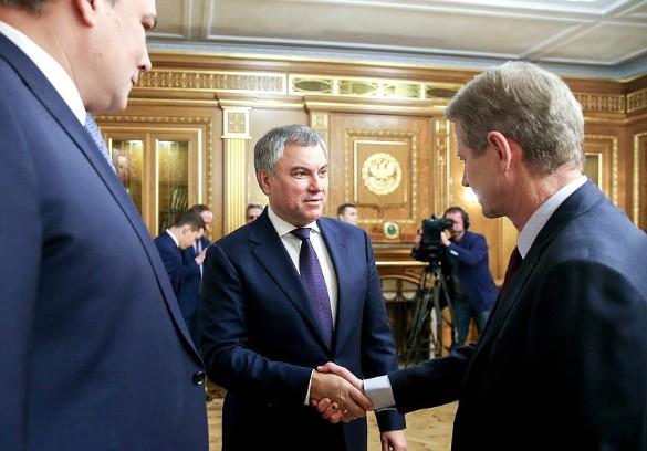 Вячеслав Володин и Роландас Паксас. Фото: duma.gov.ru