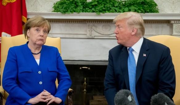 Ангела Меркель и Дональд Трамп. Фото: www.globallookpress.com