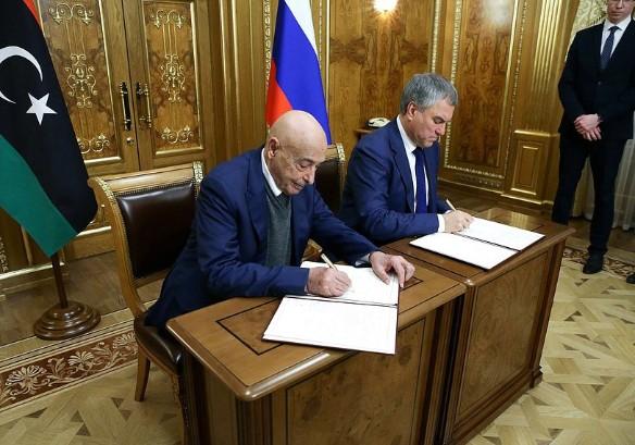 Вячеслав Володин и Агила Салех. Фото: duma.gov.ru