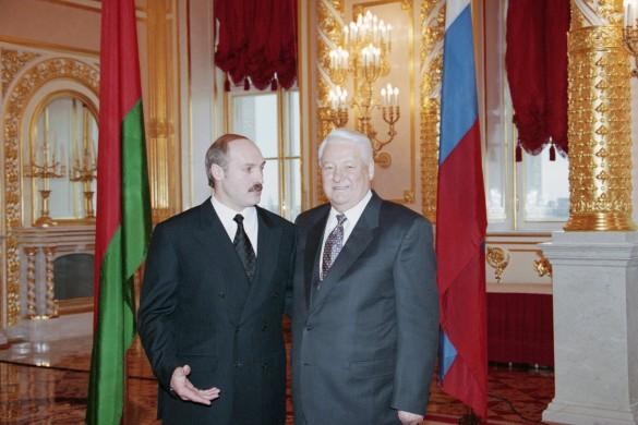 Александр Лукашенко и Борис Ельцин. Фото: Сенцов Александр, Чумичев Алекса