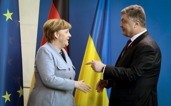 Ангела Меркель  и Петр Порошенко. Фото: www.globallookpress.com