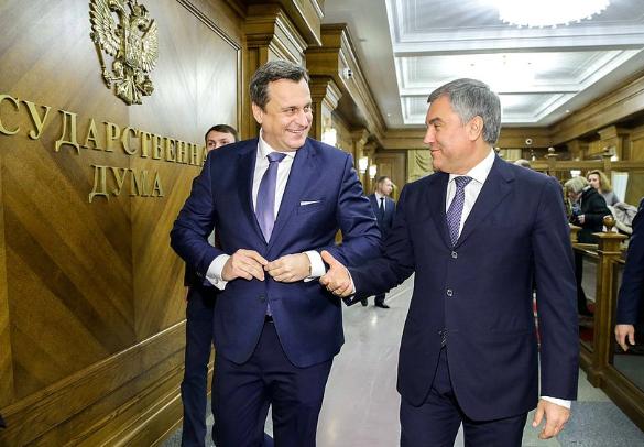 Андрей Данко и Вячеслав Володин. Фото: duma.gov.ru