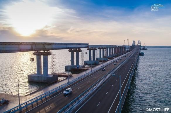 Крымский мост – самое длинное сооружение такого рода в Европе. Фото: most.life
