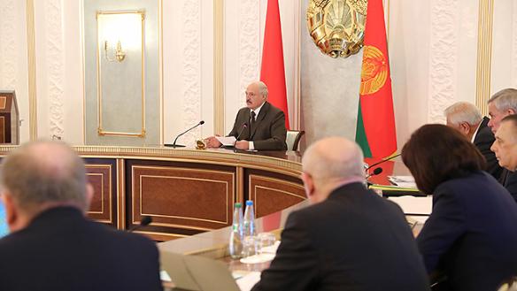 Лукашенко на заседании Совета безопасности. Фото:president.gov.by
