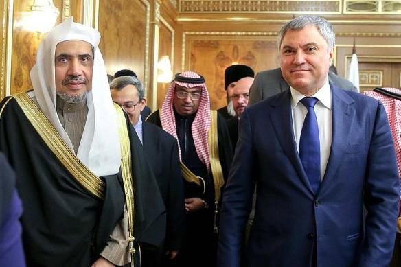 Мохаммед Бин Абдул Карим аль-Исса и Вячеслав Володин. Фото: duma.gov.ru
