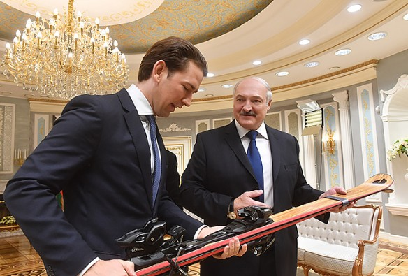 Лукашенко встречался с Курцем в конце марта. Фото: president.gov.by