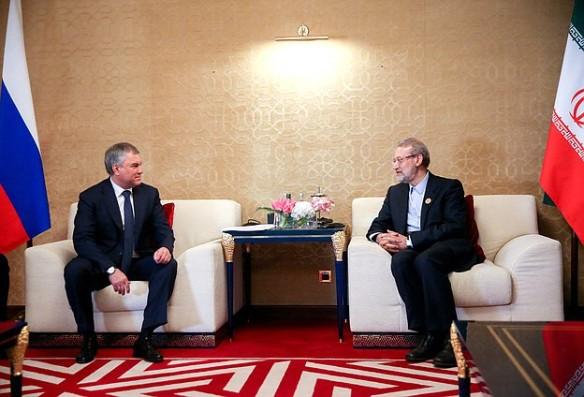 Вячеслав Володин и Али Лариджани. Фото: duma.gov.ru