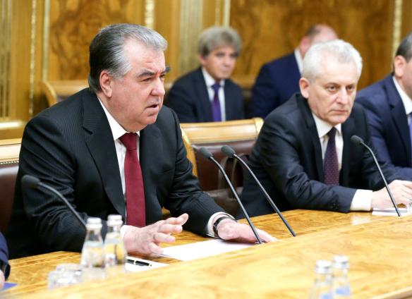 Эмомали Рахмон. Фото: duma.gov.ru