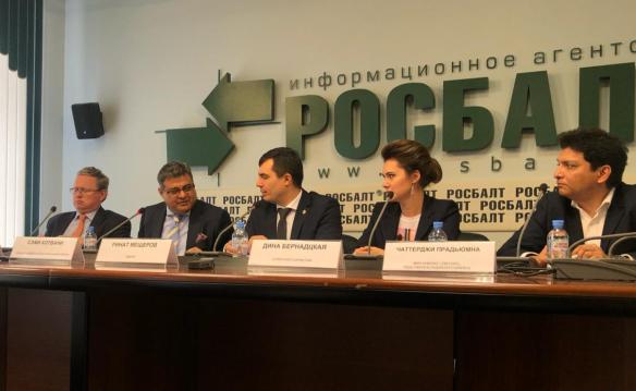 Пресс-конференция по делу Амита Шривастава. Фото: Пресс-служба