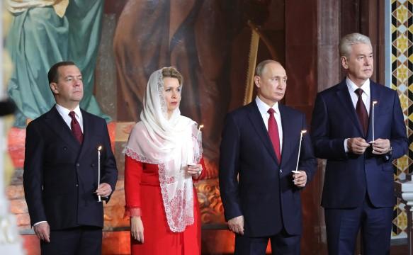 Дмитрий Медведев, Светлана Медведева, Владимир Путин и Сергей Собянин. Фото: kremlin.ru