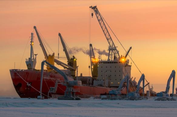 Порт Сабетта, построенный под контролем Руслана Байсарова. Фото: Пресс-служба