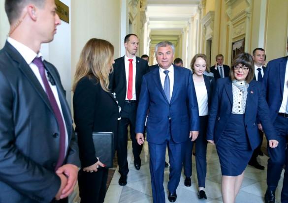 Вячеслав Володин и Майя Гойкович. Фото:duma.gov.ru