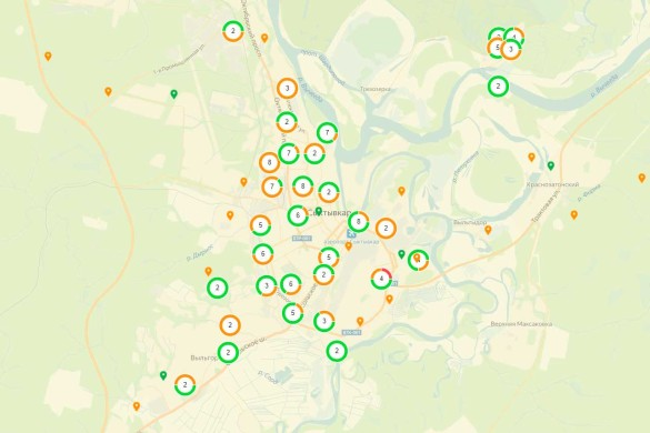 Карта свалок Сыктывкара. Фото: kartasvalok.ru
