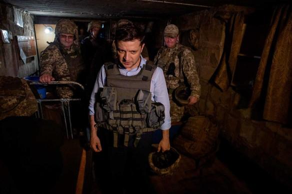 Владимир Зеленский в Донбассе. Фото: www.globallookpress.com