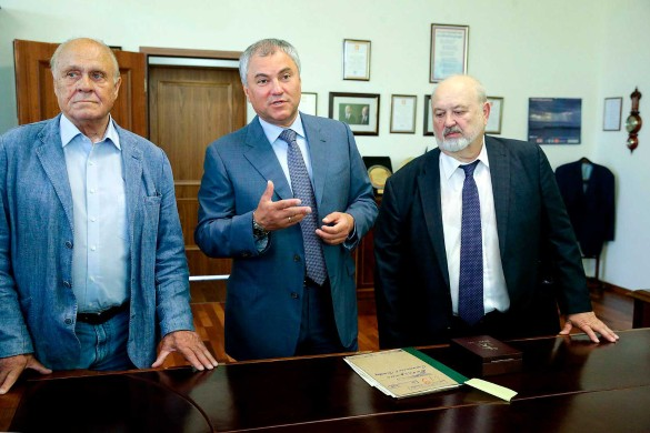Владимир Меньшов, Вячеслав Володин и Владимир Малышев. Фото: duma.gov.ru