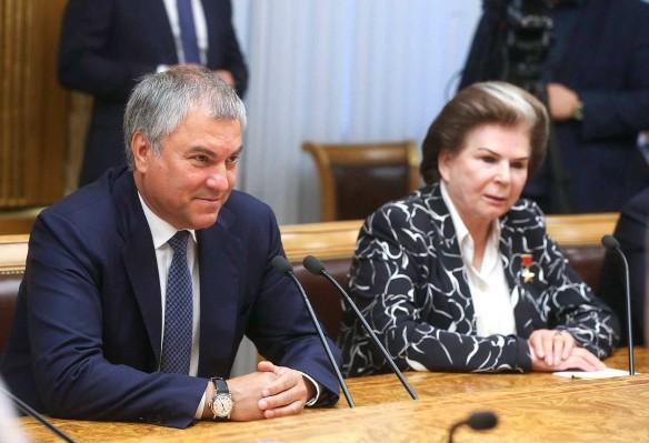 Вячеслав Володин и Валентина Терешкова. Фото: duma.gov.ru