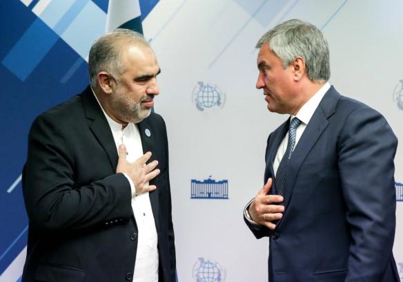 Вячеслав Володин и Асад Кайсер. Фото:duma.gov.ru