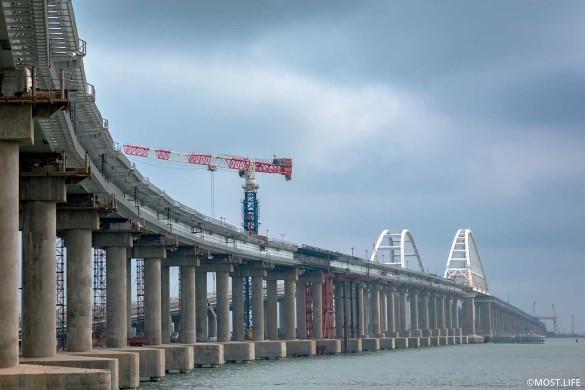 Поезда по Крымскому мосту поедут в конце года. Фото: most.life