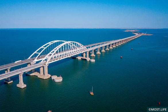 Протяженность Крымского моста – 19 километров. Фото: most.life