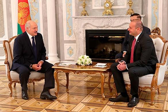 Александр Лукашенко и Мамука Бахтадзе. Фото: president.gov.by