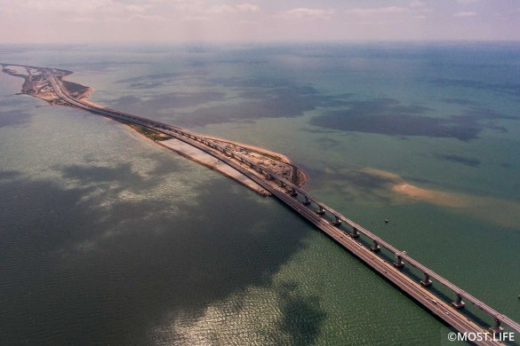 Крымский мост протянулся почти на 20 километров. Фото: most.life