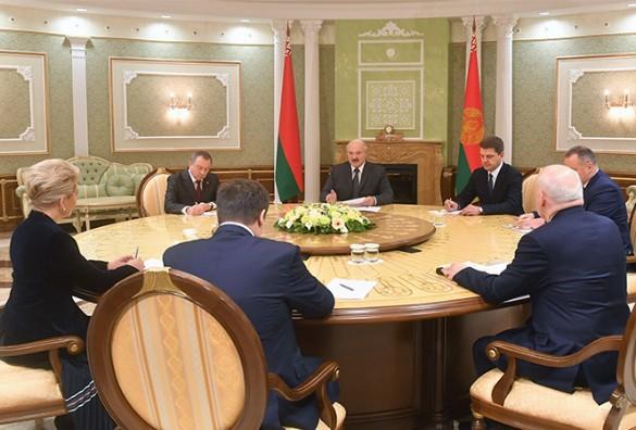 Встреча Александра Лукашенко и Андрея Никитина. Фото: president.gov.by