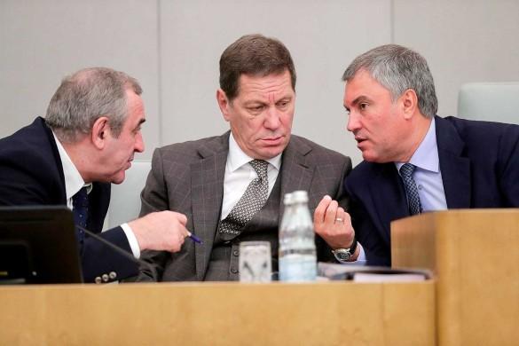 Сергей Неверов, Александр Жуков и Вячеслав Володин. Фото: duma.gov.ru