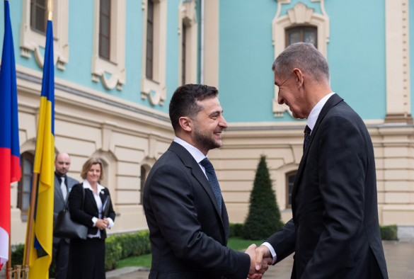 Владимир Зеленский и премьер Чехии Андрей Бабиш. Фото: president.gov.ua