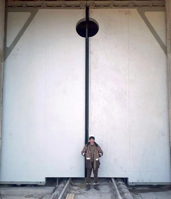 Ворота второй нитки Байкальского тоннеля, возводимой компанией Руслана Байсарова. Фото: Пресс-служба
