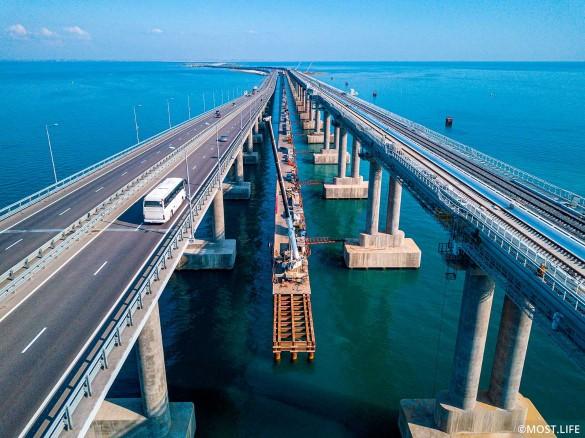 Скоро по Крымскому мосту поедут поезда. Фото:www.most.life/multimedia