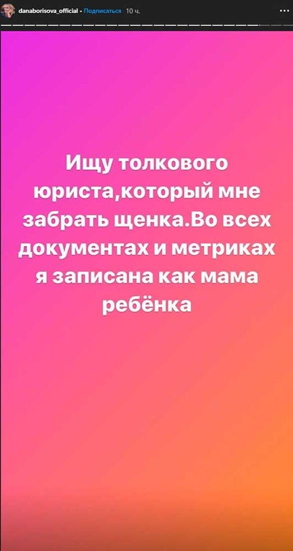 Фото: instagram.com/stories/danaborisova_official