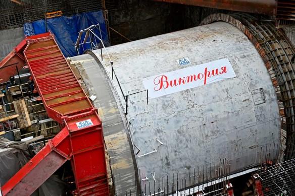 """Тоннелепроходческий щит """"Виктория"""", используемый ГК СК Мост Руслана Байсарова. Фото: stroi.mos.ru"""
