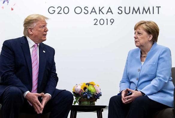 Ангела Меркель и Дональд Трамп. Фото: Bernd von Jutrczenka/dpa/www.globallookpress.com