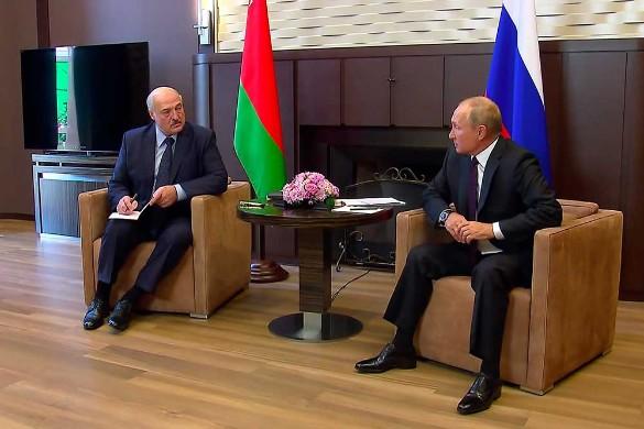 Александр Лукашенко и Владимир Путин. Фото: Пресс-служба президента РФ/ТАСС
