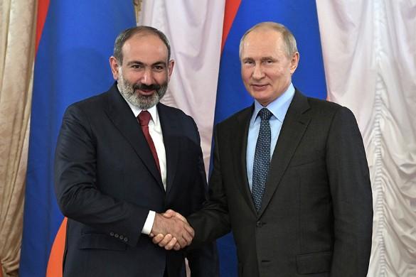 Никола Пашинян и Владимир Путин. Фото: Kremlin Pool/Global Look Press/www.globallookpress.com
