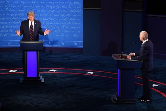 Donald Trump and Joe Biden.  Photo: Kevin Deitch - Pool via CNP / Consolidated News Photos / www.globallookpress.com