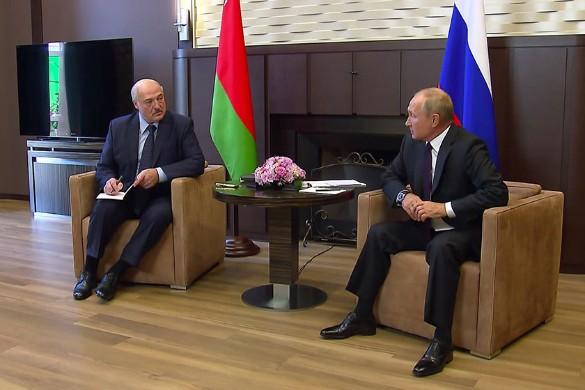 Александр Лукашенко и Владимир Путин. Фото: Kremlin Pool/via Globallookpress.com/www.globallookpress.com